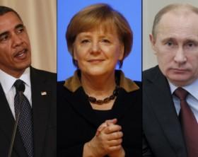 Obama-Merkel-Putin