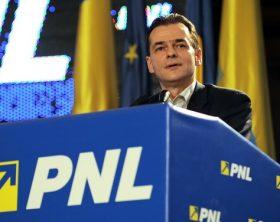 Ludovic Orban, prim-vicepresedinte al PNL, sustine un discurs in timpul  Congresului extraordinar al PNL, la Bucuresti, vineri, 5 martie 2010. Liberalii s-au reunit intr-un Congres extraordinar, pentru a se pronunta asupra Statutului cerut de Crin Antonescu in schimbul candidaturii la sefia PNL, modificarile vizand alegerea conducerii prin vot pe lista, renuntarea la prim-vicepresedinte si la prezenta lui Tariceanu in BPC. RAZVAN CHIRITA / MEDIAFAX FOTO