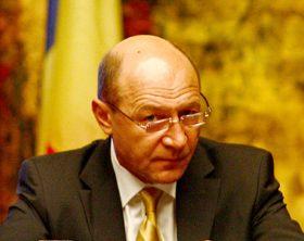 """Presedintele Romaniei, Traian Basescu, participa la masa rotunda """"Evolutiile socio-economice din Romania: valorificarea oportunitatilor oferite de catre Strategia Lisabona a Uniunii Europene pentru dezvoltare si locuri de munca"""", la Hotelul Intercontinental din Bucuresti, vineri, 23 mai 2008. ANDREEA BALAUREA / MEDIAFAX FOTO"""